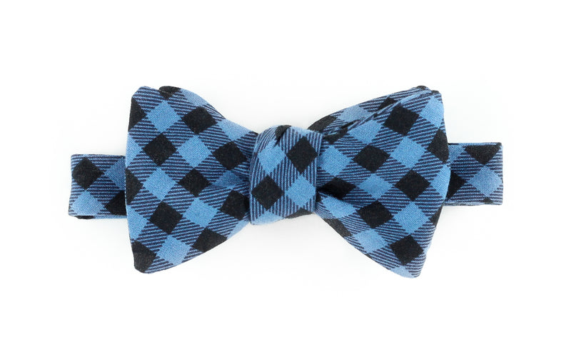 Blue Buffalo Plaid Bowtie for Human