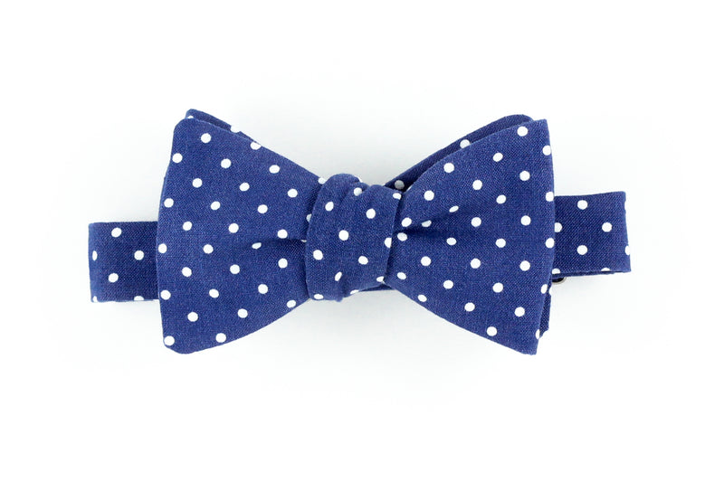 Navy Dot Bowtie for Human