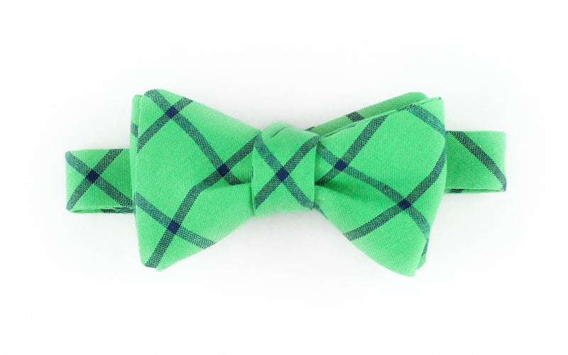 Green Minimal Plaid Bowtie for Human