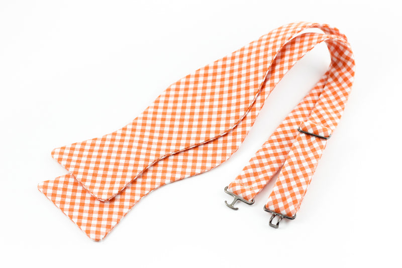 Orange Gingham Bowtie for Human