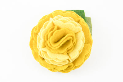 Mustard Yellow Dog Collar Flower
