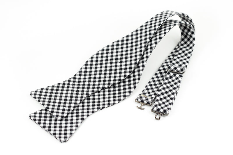 Black Gingham Bowtie for Human