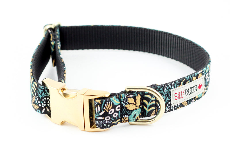 Tapestry Black Gold Flower Collar