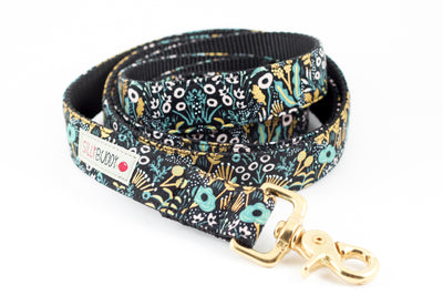 Tapestry Black Gold Leash