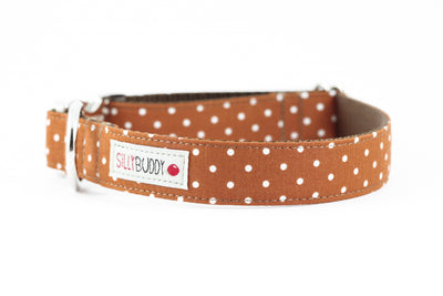 Cinnamon Dot Flower Collar