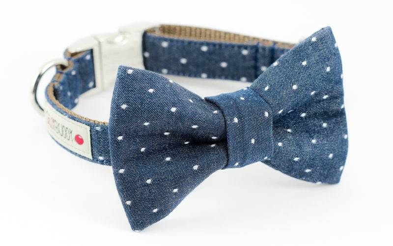 Chambray Indigo Dot Bowtie