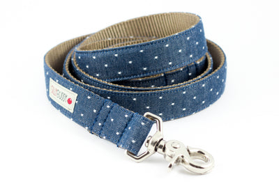 Chambray Indigo Dot Leash