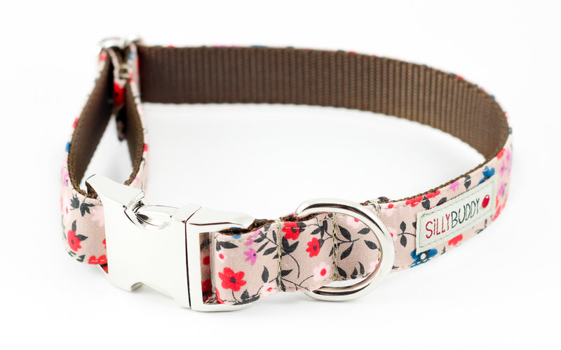 Taupe Floral Collar