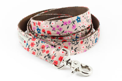 Taupe Floral Leash