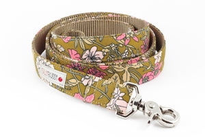 Ochre Floral Leash