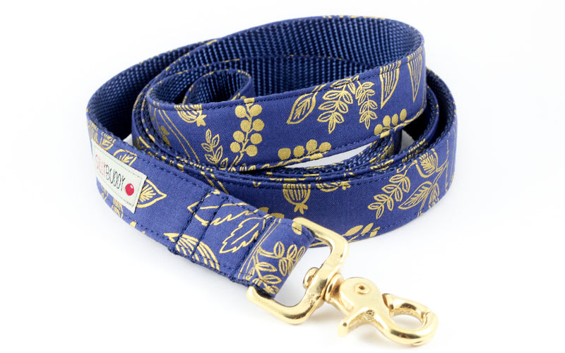 Queen Anne Navy Gold Leash