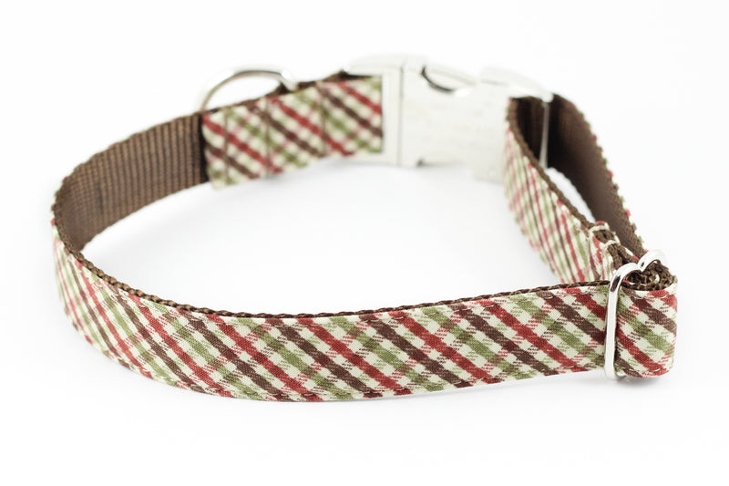 Brown Plaid Collar