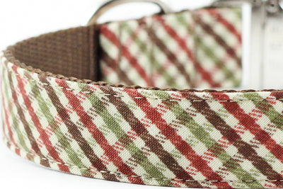 Brown Plaid Bowtie Collar