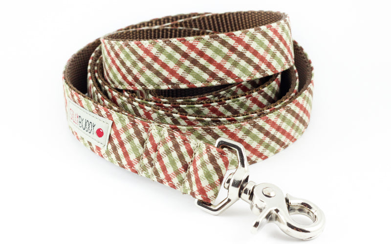 Brown Plaid Leash