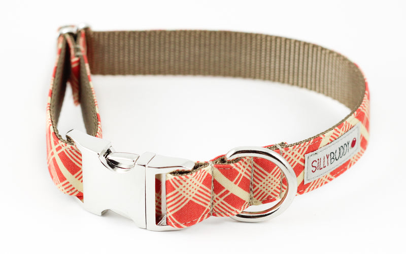 Orange Vintage Plaid Collar