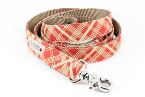 Orange Vintage Plaid Leash