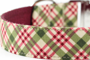 Burgundy Plaid Bowtie Collar
