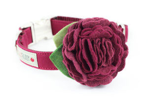 Burgundy Flower Collar