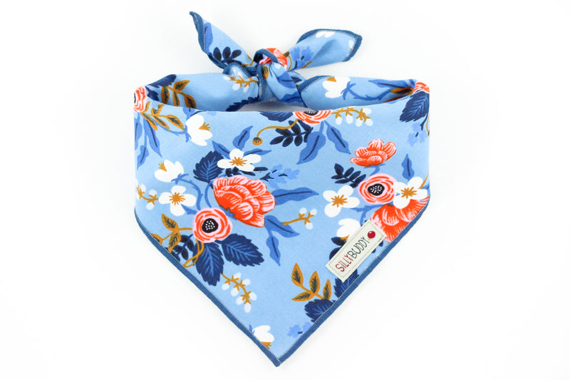Rifle Paper Co Dog Bandana Birch Floral Periwinkle