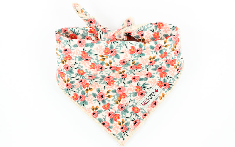 Rifle Paper Co Dog Bandana Rosa Floral Peach