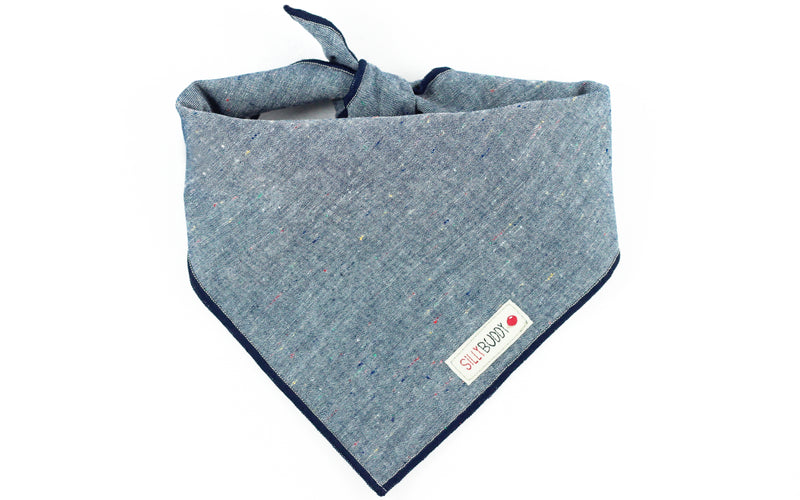 Blue Chambray Dog Bandana
