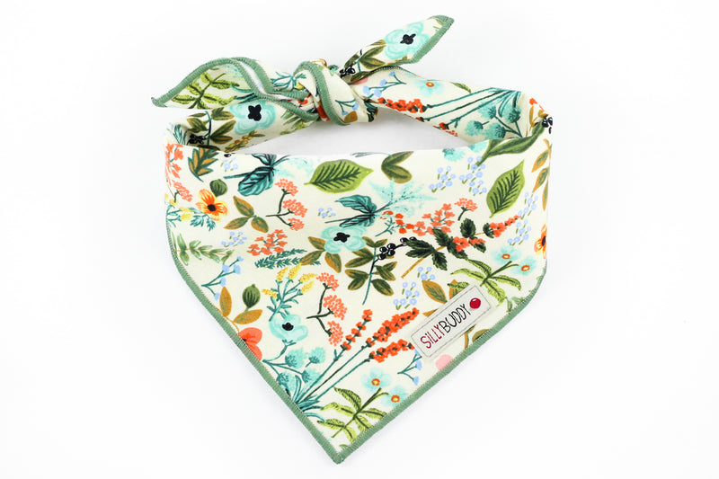 Rifle Paper Co Dog Bandana Herb Garden in Natural