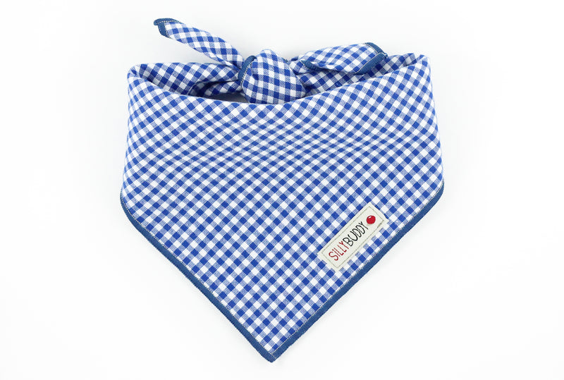 Royal Blue Gingham Dog Bandana