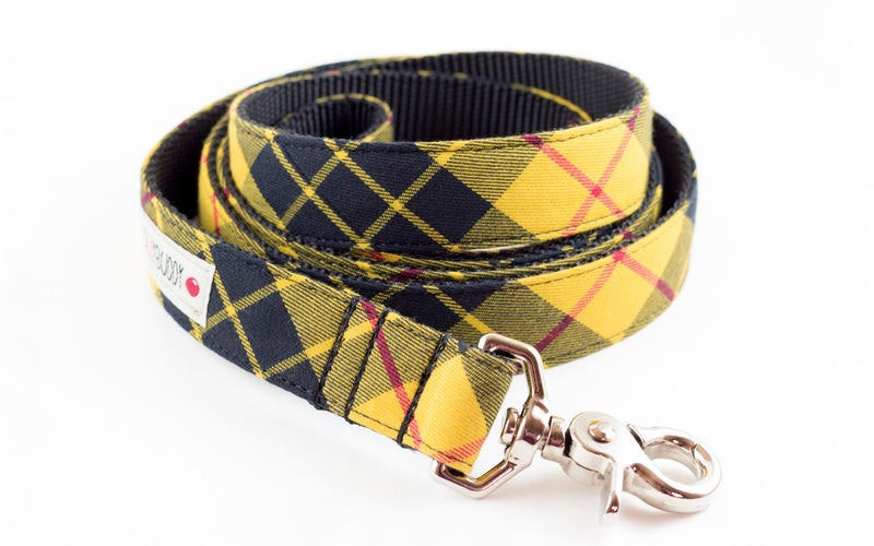 Mustard Plaid Dog Leash