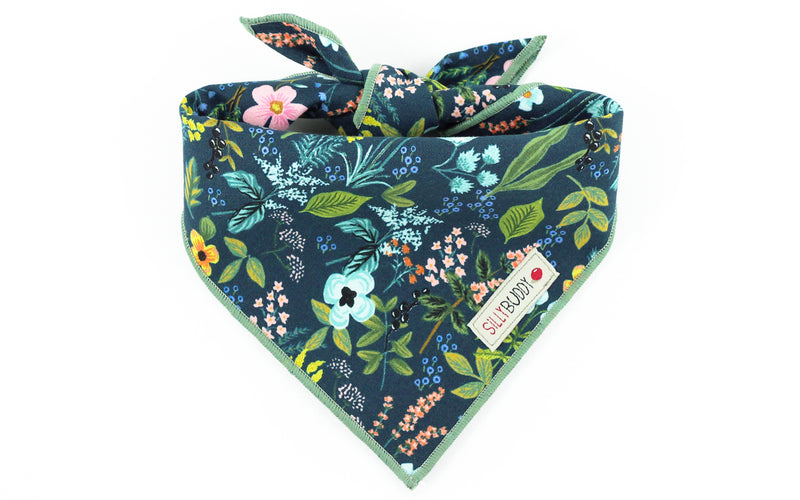 Rifle Paper Co Dog Bandana Herb Garden Navy