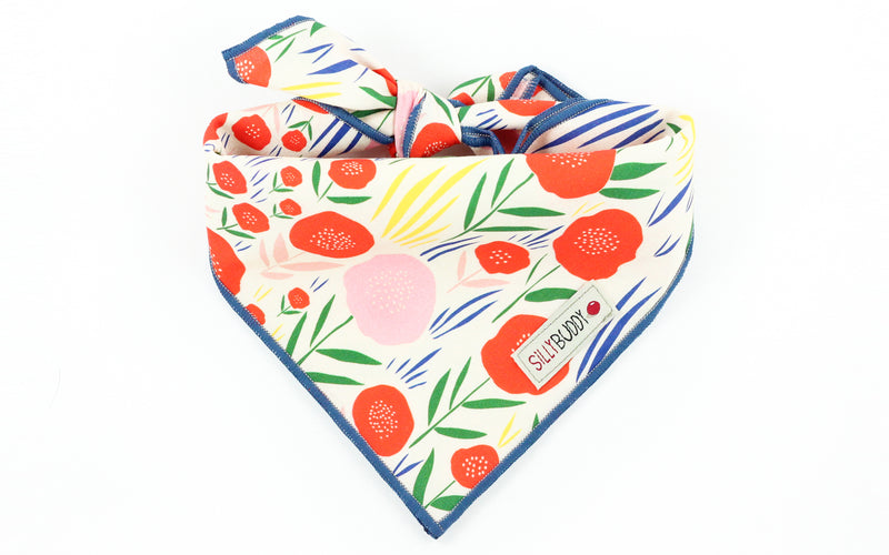 Poppy Print Dog Bandana