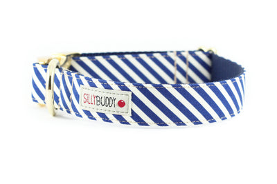 Navy Sailor Stripe Collar