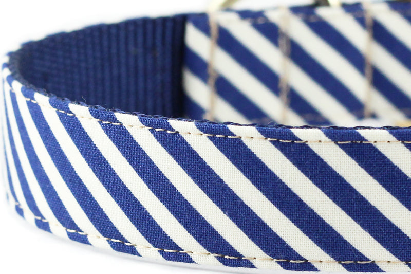 Navy Sailor Stripe Bowtie Collar