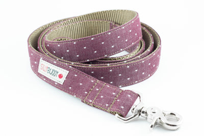 Chambray Burgundy Dog Leash