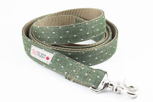 Chambray Olive Dog Leash