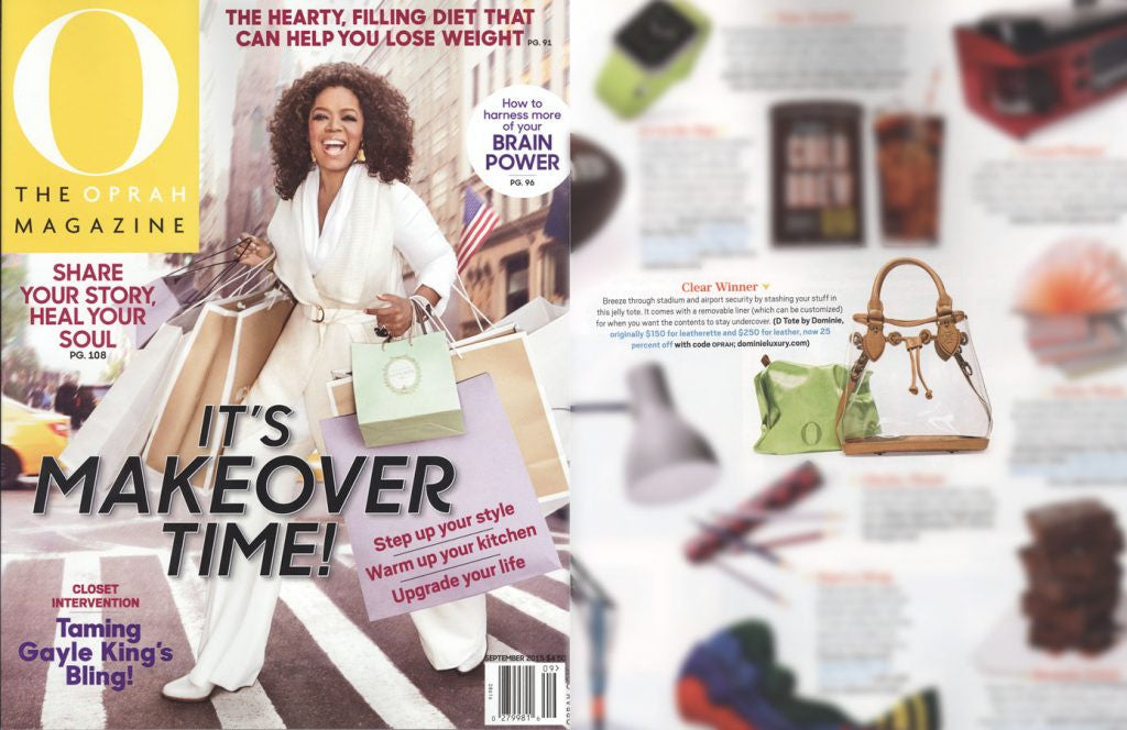 "Dominie Luxury featured in Oprah Magazine ""The O List"""