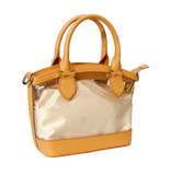 D Handbags-Leather Trim
