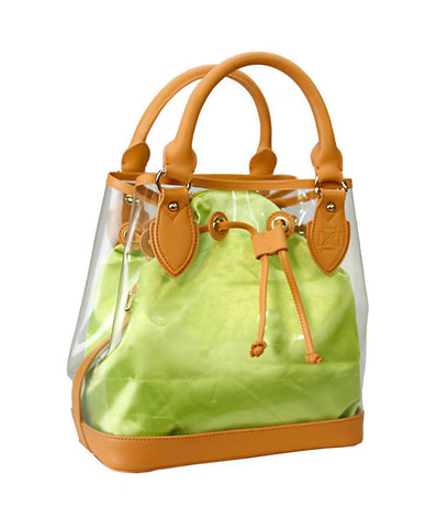 D Tote - Leather Trim