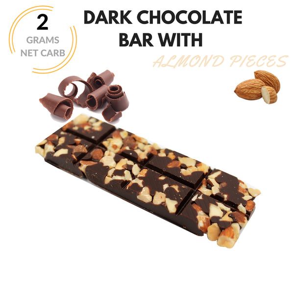 Keto Krak - Chocolate With Roasted Almonds - 6pk