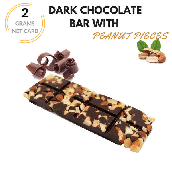 Keto Krak - Chocolate With Roasted Peanuts - 8pk