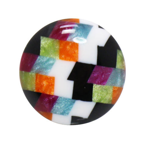 Kisso MULTI COLOR Check Handade Lapel Pin