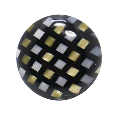 Kisso Chik Check Handade Lapel Pin