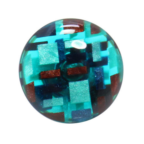 Kisso Marble Blue Handade Lapel Pin