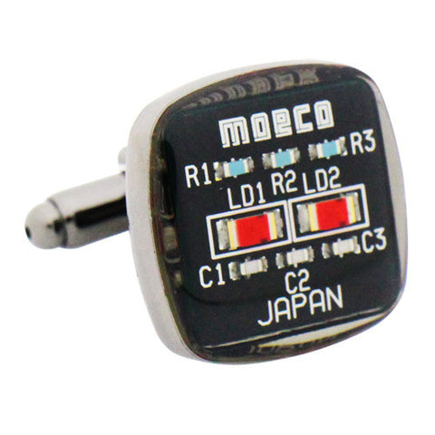 Black Circuit Cufflinks