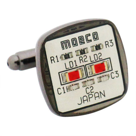 White Circuit Cufflinks