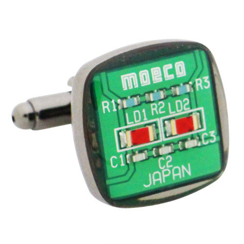 Green Circuit Cufflinks