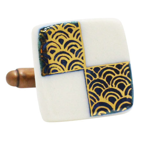 Golden Wave Shikaku Cufflinks