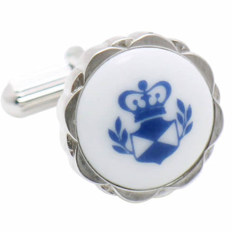 Royal Copenhagen Crown Cufflinks Royal Copenhagen meets Tokyo cufflinks Royal Copenhagen – Purveyor to Her Majesty the Queen of Denmark since 1775. Manufacturer of hand-painted porcelain in dinnerware, figurines, collectibles. These Cufflinks are hand made in Japan from high-quality sturdy rhodium. The cufflinks will come in a beautiful cufflink box.
