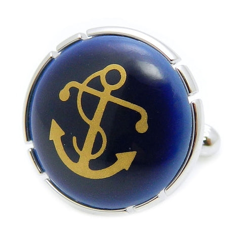 Royal Copenhagen Anchor Navy CufflinksRoyal Copenhagen meets Tokyo cufflinksRoyal Copenhagen – Purveyor to Her Majesty the Queen of Denmark since 1775. Manufacturer of hand-painted porcelain in dinnerware, figurines, collectibles. These Cufflinks are hand made in Japan from high-quality sturdy rhodium. The cufflinks will come in a beautiful cufflink box.