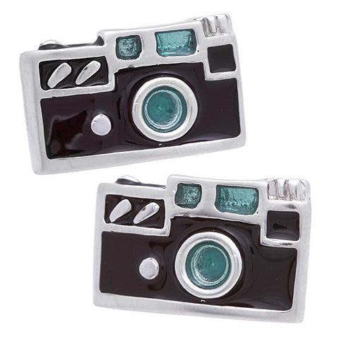 Black Camera Cufflinks Wear your Black Camera Cufflinks by Tokyo Cufflinks. They also are perfect gifts for groomsmen, friends, and husbands! These Cufflinks are hand made in Japan from high-quality sturdy rhodium. The cufflinks will come in a beautiful cufflink box.
