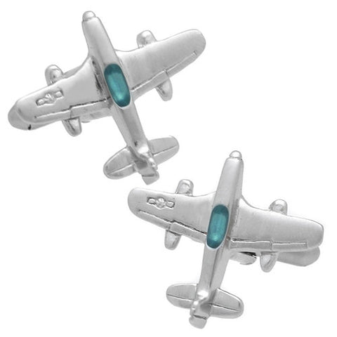 These Silver Airplane Cufflinks are a must-have to swag up your cuff shirts. They also are perfect gifts for groomsmen, friends, and husbands! These Cufflinks are hand made in Japan from high-quality sturdy rhodium. The cufflinks will come in a beautiful cufflink box.